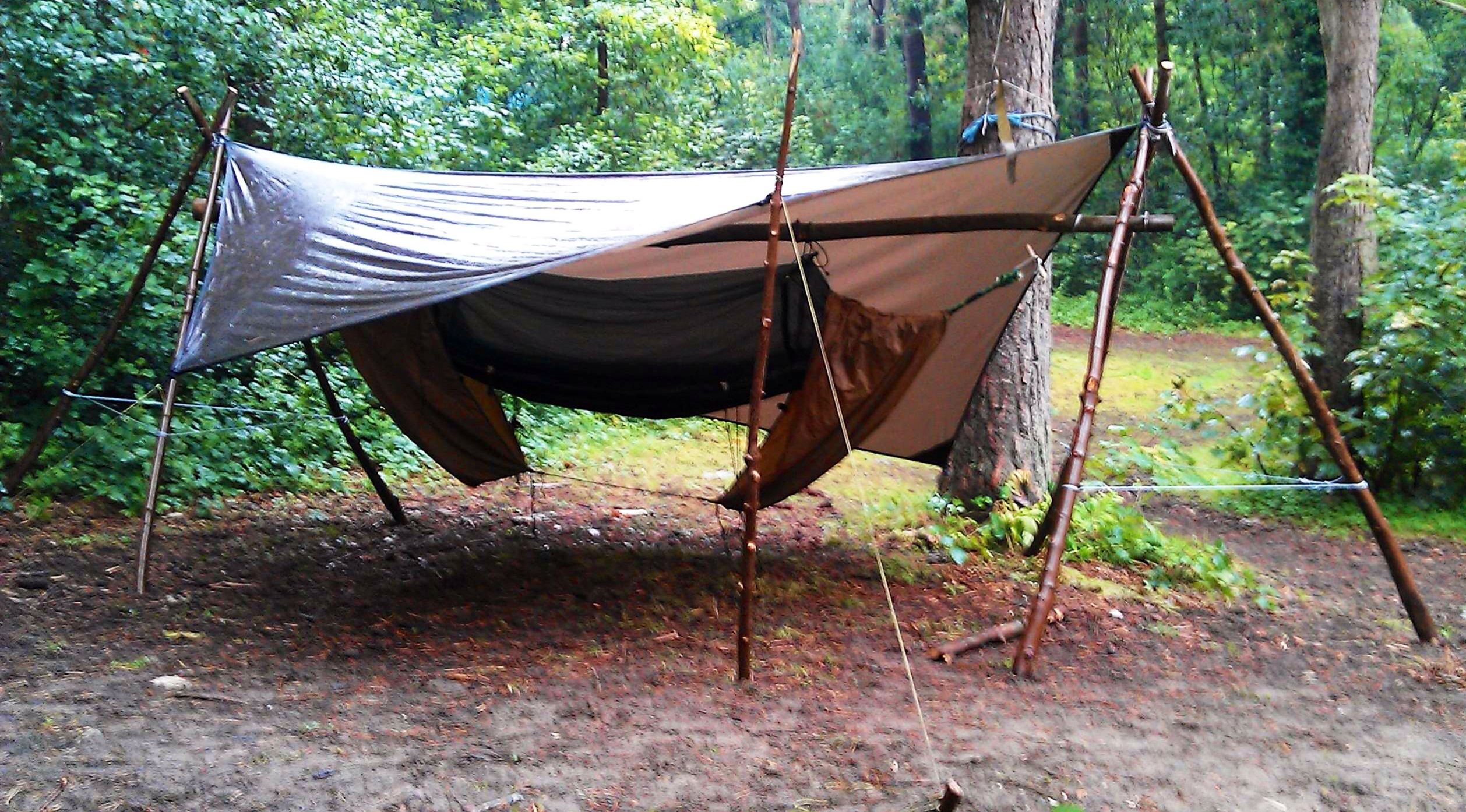 make green a wood stand standing hammock bushcraft photo to days free how