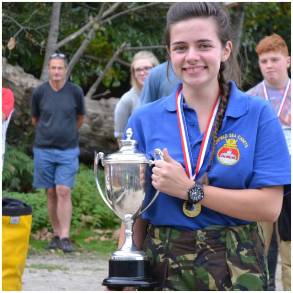 L Cdt Jess Edwards - Winner of the Team Leader trophy