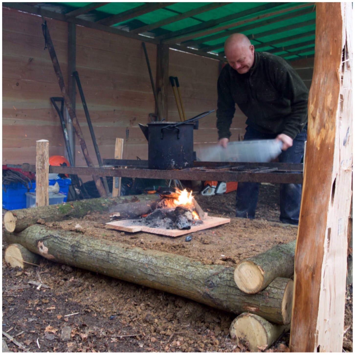 How To Build A Raised Firepit Bushcraft Days