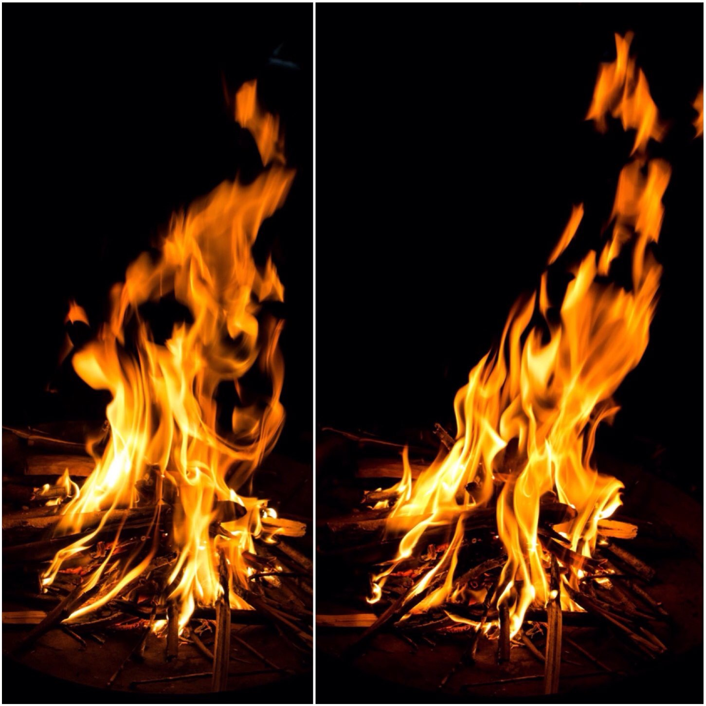 Fire Faces - How many can you see?